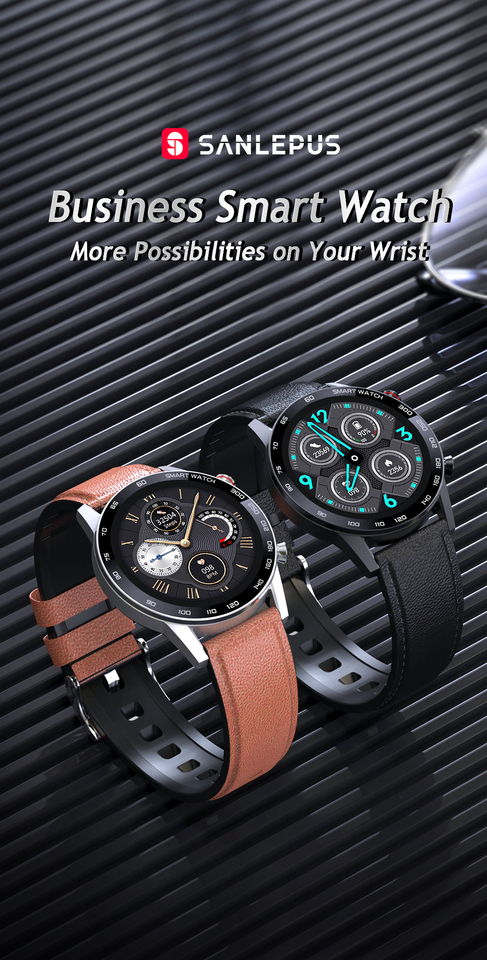 2021 sanlepus ecg relógio inteligente bluetooth chamada