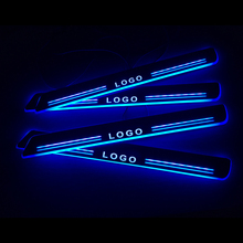 LED Door Sill For Ford Ranger 2015 2016 2017 2018 Door Scuff Plate Pathway Welcome Light Car Accessories