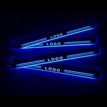 Umbral de puerta LED para coche, placa de desgaste de puerta, accesorios de bienvenida, para Ford Ranger 2015, 2016, 2017, 2018