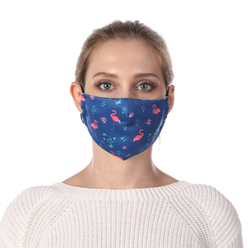 Flamingo Printing Face Mask Reusable Protective PM2.5 Filter Mouth Mask Anti Dust Mask Windproof Adjustable Face Masks Face Masks