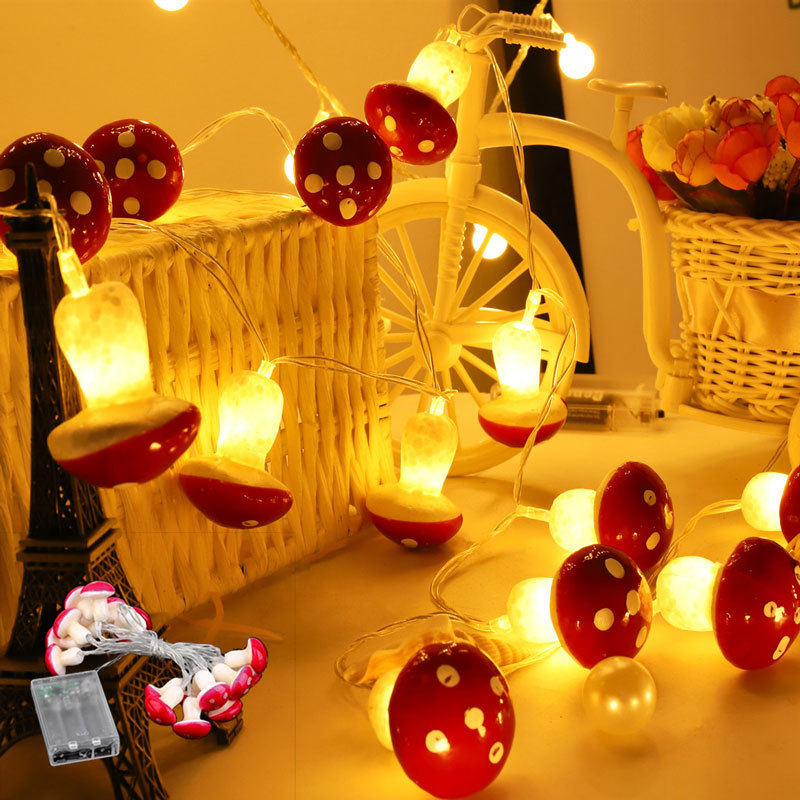 10//20LED Mushroom Wire String Fairy Light Battery Operated Xmas Party Decor 2//3M