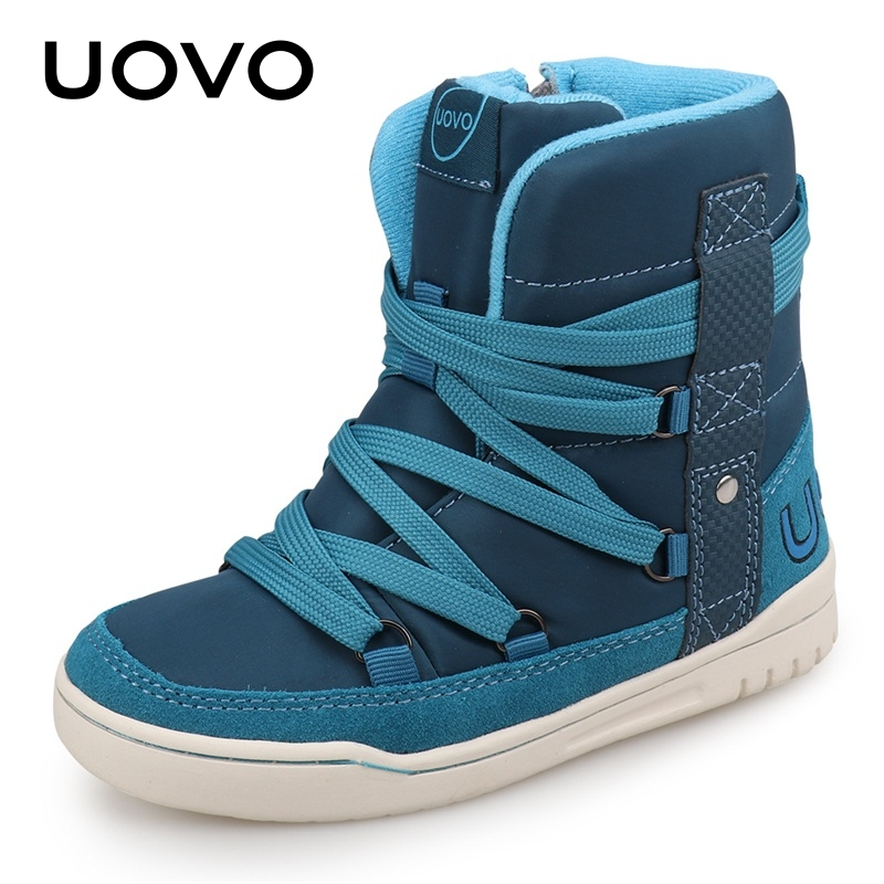 UOVO Brand 2019 Kids Winter Shoes Fashion Children Casual Sport Shoes For Boys And Girls High-Top Kids Sneakers Size 28#-39#
