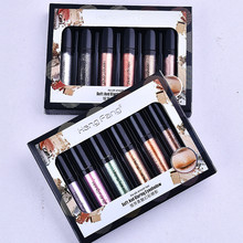 New 6Pc/set Metallic Diamond Palette Eyeshadow Pearly Waterproof Liquid Eyeshadow Glitter Eye Shadow Shimmer Eye Makeup Hot Sale