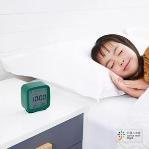 Image 5 - In magazzino Originale youpin Qingping Bluetooth di allarme di temperatura e umidità orologio di monitoraggio luce di notte tre in one 3 colori