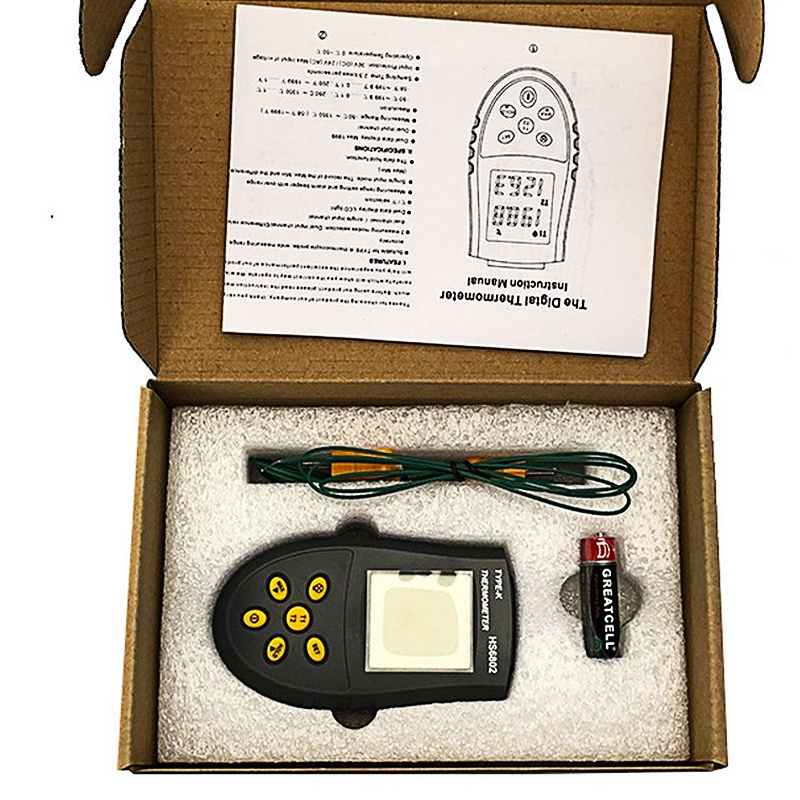 Portable K type Thermocouple Digital Thermometer Infrared Sensor Detector Dual Channel 30V DC 50 ° C to 1350 ° C LCD Meter in Temperature Instruments from Tools