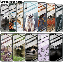 Cute Raccoon Art Tempered Glass Case for Xiaomi Mi 8 Lite 9