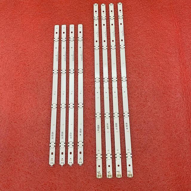New 5set=40pcs LED backlight strip for LG 49UF640 49UH610A 49UF640V 49LF510V NC490DUE SADP2 LGE_WICOP_49inch_UHD/FHD_REV05_B A