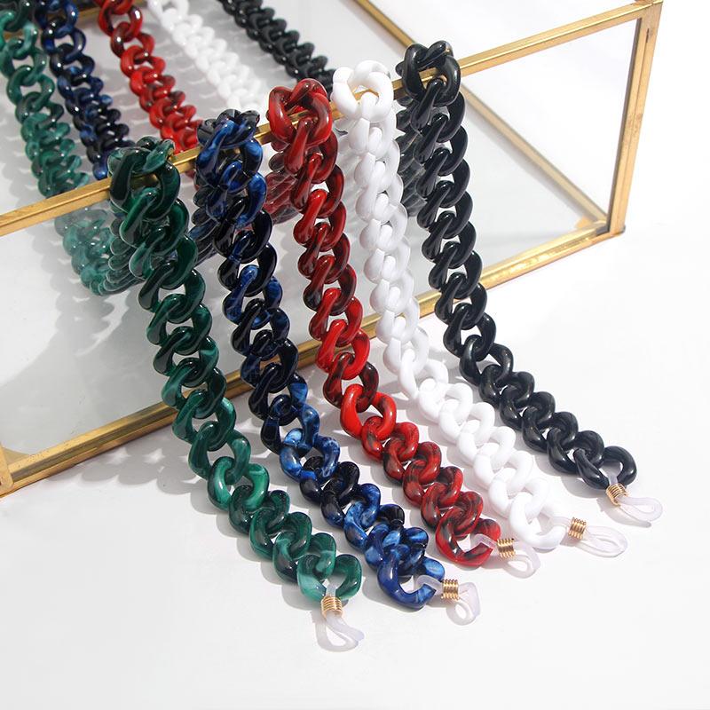 Flatfoosie модная акриловая цепочка для солнцезащитных очков цепочка для очков для чтения подвесной держатель для шеи ремешки с петлей аксессуары для очков 68 см