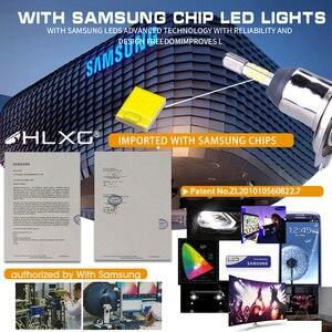 Image 2 - Hlxg bombilla Led antiniebla para coche, con Chip SAMSUNG CSP, H4, LED H7, 4 lados 9005 HB3, H11 H8 H1, 15000LM, 80W, 6500k