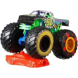 Image 5 - 1:64 الأصلي الساخن عجلات عجلات عملاقة مجنون الهمجية الوحش طراز سيارة من المعدن لعبة Hotwheels كبير القدم سيارة الأطفال هدية عيد ميلاد