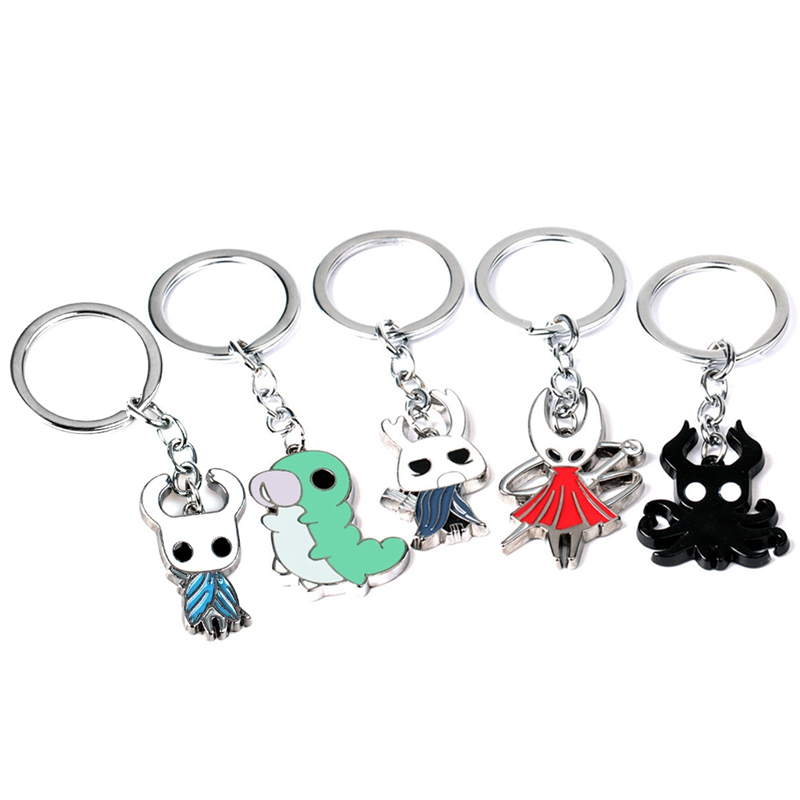 Hollow Knight Keychain Alloy Keyring Necklace