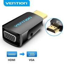 Przewód przedłużający Adapter HDMI do VGA HDMI męski do VGA 15 Pin Adapter żeński HD 1080P kabel Audio dla PC Laptop TV, pudełko HDMI VGA konwerter
