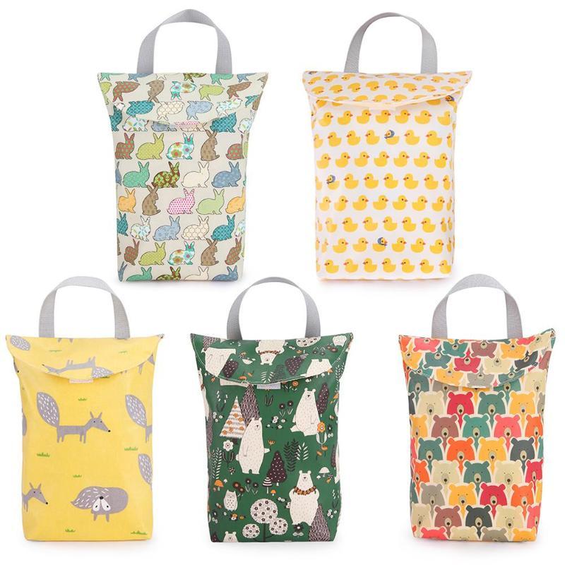 Multi-function Portable Baby Diaper Bag Fashion Waterproof Mummy Travel Shopping Nappy Organizer Bag Print Baby Care Storage Bag
