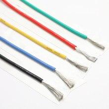 10 mt/los draht silikon 10 12 14 16 18 20 22 24 26 28 AWG 5m rot und 5m schwarz farbe kabel Hohe Qualität