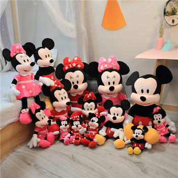 цена на 1pc 40/60/70CM best selling high quality Mickey Mouse or Minnie Mouse plush toy doll birthday Christmas gift baby sleep toys