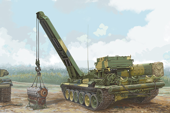 Trumpeter 09553 1/35 Russian BREM-1 Armoured Recovery Vehicle