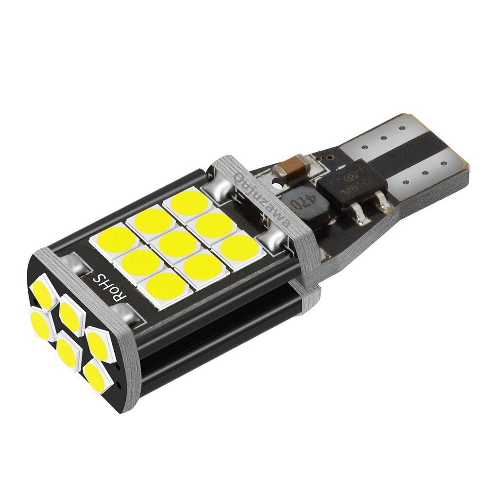 1 шт. T15 W16W WY16W супер яркий светодиодный задний тормоз автомобиля сигнальная Поворотная лампа авто Обратный светильник дневной ходовой свети...