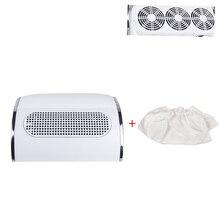 Aspirateur de manucure à faible bruit, puissante aspiration de poussière, outil de manucure avec 2 sacs à collectionner, 20W