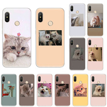 Funny cute pink cat art Soft silicone phone Case For