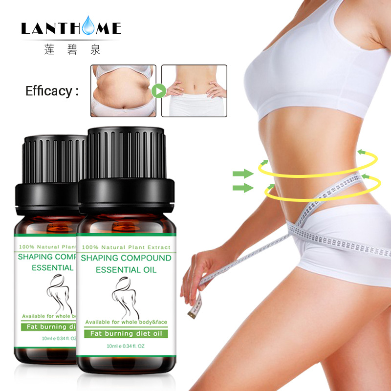 LANTHOME Slimming Cellulite Massage Essential Oil Promote Fat Burn Thin Waist Stovepipe Body Firming Skin Treatment Lift Beauty