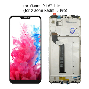 Image 2 - 100% New for Xiaomi Mi A2 Lite/ Mi A2 LCD Display Screen Touch + Frame Assembly LCD Display Touch Screen Repair Spare Parts