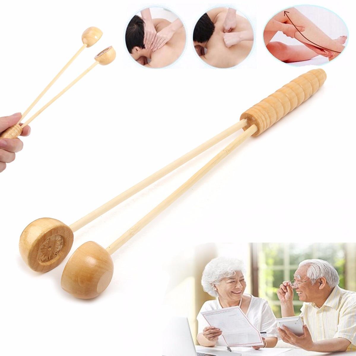 Holz Stick Gesundheit Care Body Massage Hammer Fördern Die Durchblutung Beat Reflexzonenmassage Hand Fuß Körper Stress Relief Entspannen