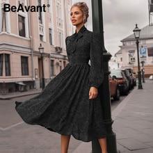 BeAvant אלגנטי מנוקדת מקסי שמלת נשים קיץ פנס שרוול ורוד שמלת loose חג גבירותיי שיק bow מפלגה שמלות 2020