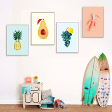 Canvas Painting Pineapple Fruit Nordic Poster Home Decor Baby Room Cartoon grape Wall Art Pictures For
