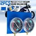 2 * אופנוע קרבורטור ואקום מד איזון Synchronizer כלי W/H צינור ערכת חליפת עבור 2 צילינדר מכונות-במאיידים מתוך רכבים ואופנועים באתר