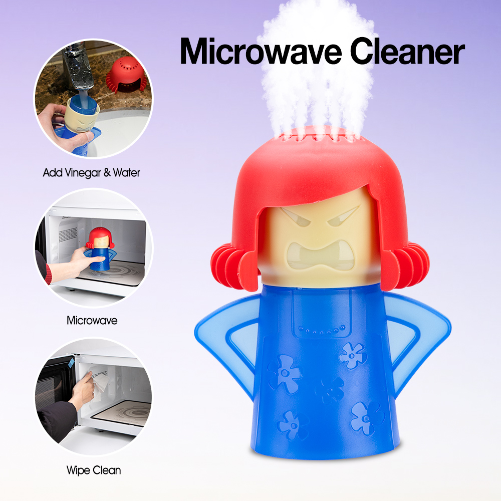 Пароочиститель для микроволновой печи «злые мамы», легко очищается, микроволновые приборы для кухни, холодильника, чистящие инструменты