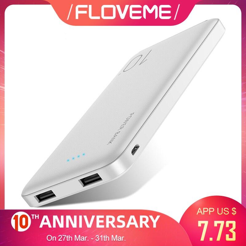 FLOVEME 10000mAh Power Bank For Xiaomi External Battery Portable Charger Double USB Mi Powerbank Poverbank Bateria Externa Movil