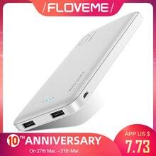 FLOVEME 10000mAh Power Bank For Xiaomi External Battery Port