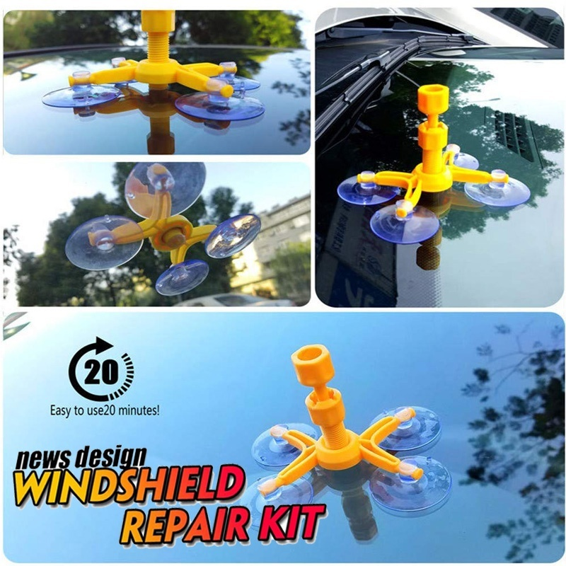 Car Window Glass Crack Chip Resin DIY  Windshield Repair Tool Kit Set