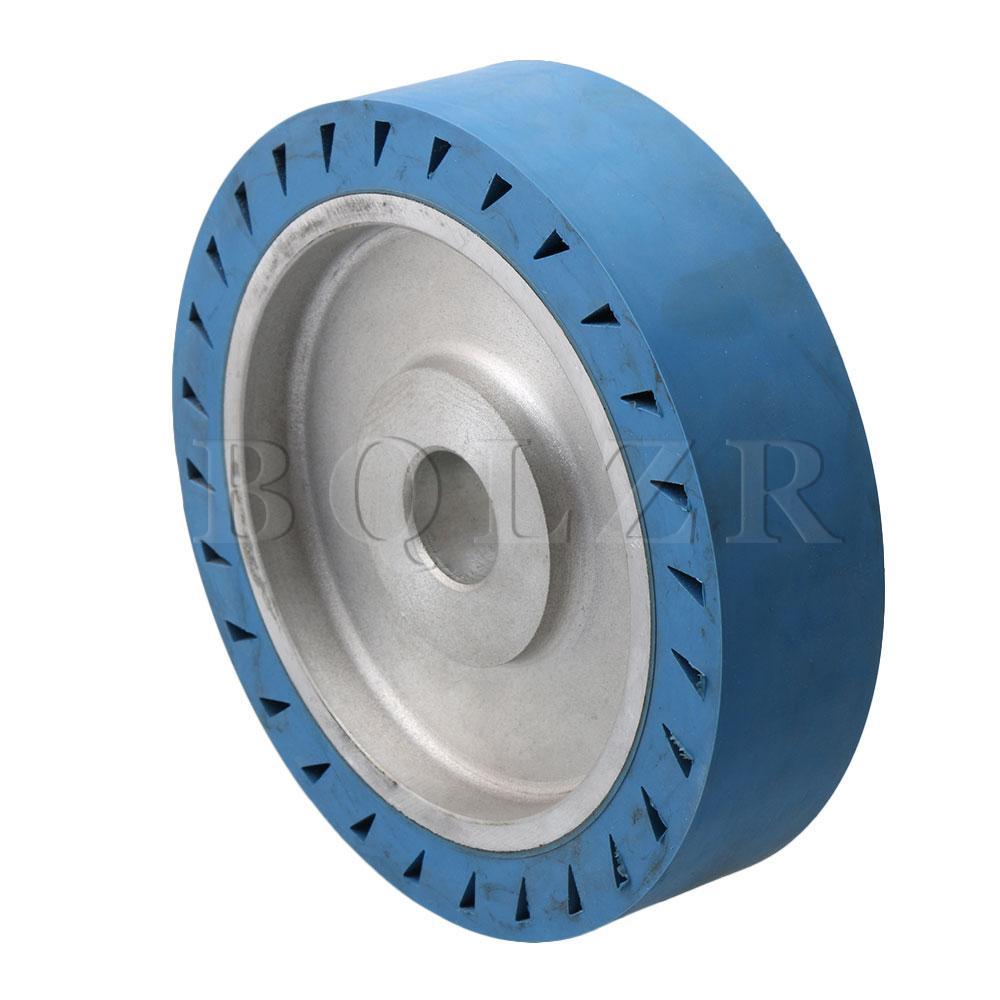 Roue de Contact de roulement de Surface plate de roue en caoutchouc de meuleuse de ceinture bleue de BQLZR 200x32mm