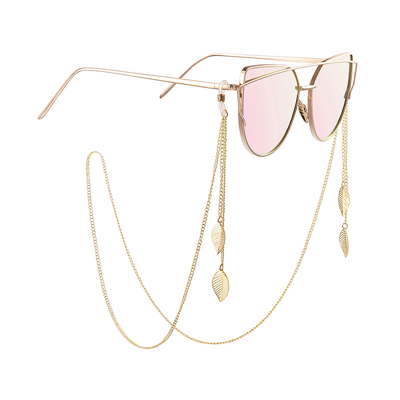 Glasses Alloy Chain For Sunglasses Man Women Anti-lost Decoration Hanging Neck Accessories  Silica Gel  Adjustable