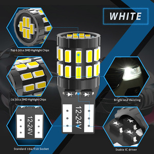 2 шт. T10 W5W светодиодный Canbus лампы 6000K Белый Синий Красный Желтый без ошибок светодиодный светильник для чтения салона автомобиля для BMW Audi Merceds