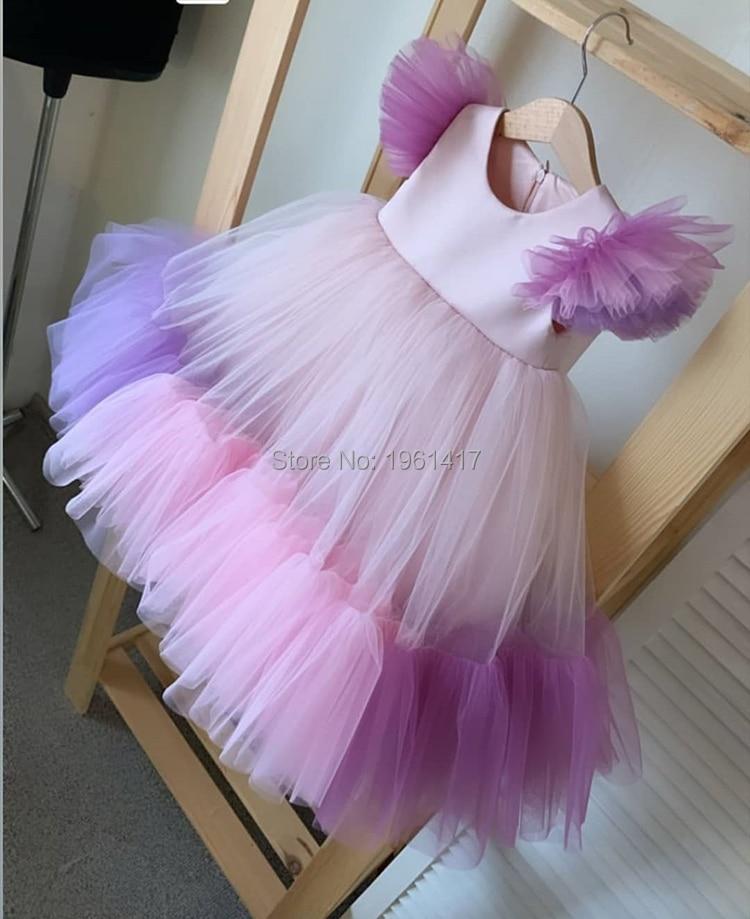 Girls Dresses Summer Kids Princess Dress O-neck Ball Gown Kids Clothes Open Back Toddler Girl Children Costume