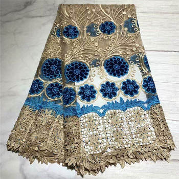 African Velvet Lace Fabric 2019 Embroidered Stones Nigerian Lace Fabric Bridal High Quality French Tulle Lace Fabric For Women