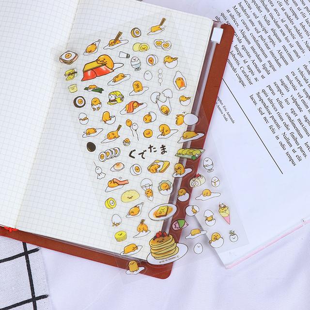 1 PC przezroczysty śliczne leniwy jajko Cartoon papiernicze naklejki karteczki do terminarza Decor pcv papiernicze naklejki DIY tanie i dobre opinie SD HI CN (pochodzenie) Egg Stickers 3 lata Cartoon Stickers Other about 21 5*10cm