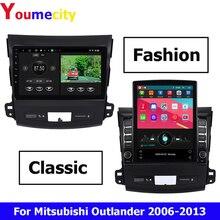 Android 9.0 samochodowy odtwarzacz DVD Radio GPS dla Mitsubishi Outlander 2007 2013 Peugeot 4007 Citroen c crosser radio wideo odtwarzacz multimedialny