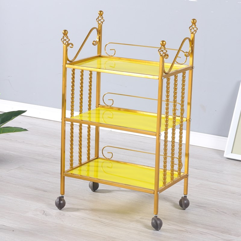 Beauty Trolley European Hair Salon Nail Barber Shop Iron Trolley Tool Car Package Special Clearance