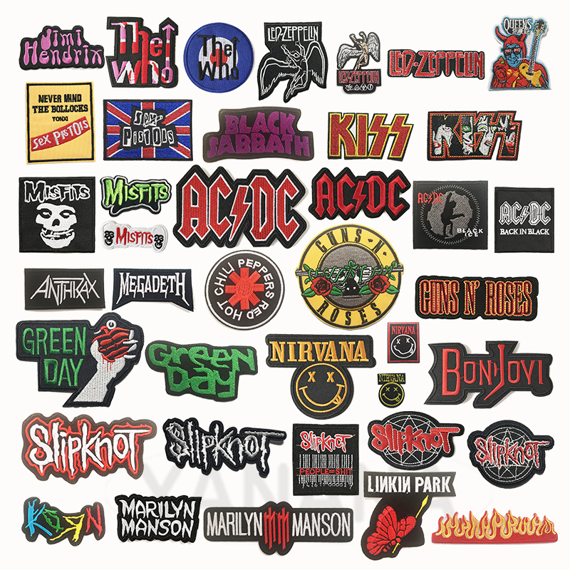 Rock Band Heavy Metal Band Banner Patch Badges Embroidered Applique Sewing Iron On Badge Clothes Garment Apparel Accessories