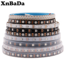 Bande lumineuse RGB Led intelligente, adressable individuellement, étanche IP30/65/67, DC5V WS2812B WS2812, noir/blanc, PCB