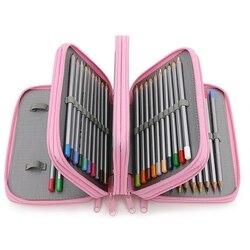 Szkic szkolny piórnik 72 otwory piórnik duży zamek błyskawiczny pokrowiec na długopis cztery wielowarstwowe chłopięce zestaw pudełko biurowe etui