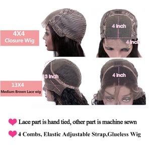Image 5 - Парики для женщин, фронтальные, с прямыми натуральными волосами, 13 х4