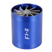 Supercargador de turbina de coche, F1 Z, Turbo, individual, doble filtro de aire, ventilador de admisión, Kit de ahorro de Gas y combustible, pieza de repuesto de coche