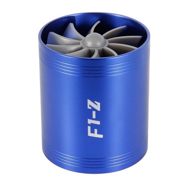 Ładowarka samochodowa turbina F1 Z Turbo ładowarka pojedynczy podwójny filtr wlotowy powietrza wentylator zestaw oszczędzania paliwa gazowego część zamienna