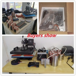 Image 3 - 15 em 1 impressora de transferência térmica da máquina da imprensa do calor da sublimação da tela dupla t para a caneca/tampão/sapata/pena/futebol/garrafa