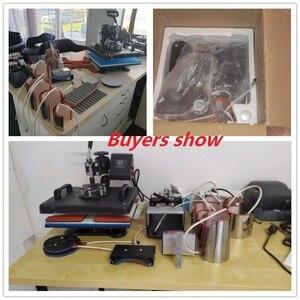 Image 3 - 15 en 1 Double affichage Sublimation presse à chaud Machine t shirt transfert de chaleur imprimante pour tasse/bouchon/chaussure/stylo/Football/bouteille