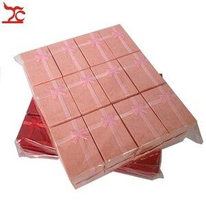 Image 4 - 24 adet Mix renk hediye kutusu takı küpe organizatör saklama kutusu kolye kağıt ambalaj kutusu takı yüzük saklama kutusu 8*5*2.5CM